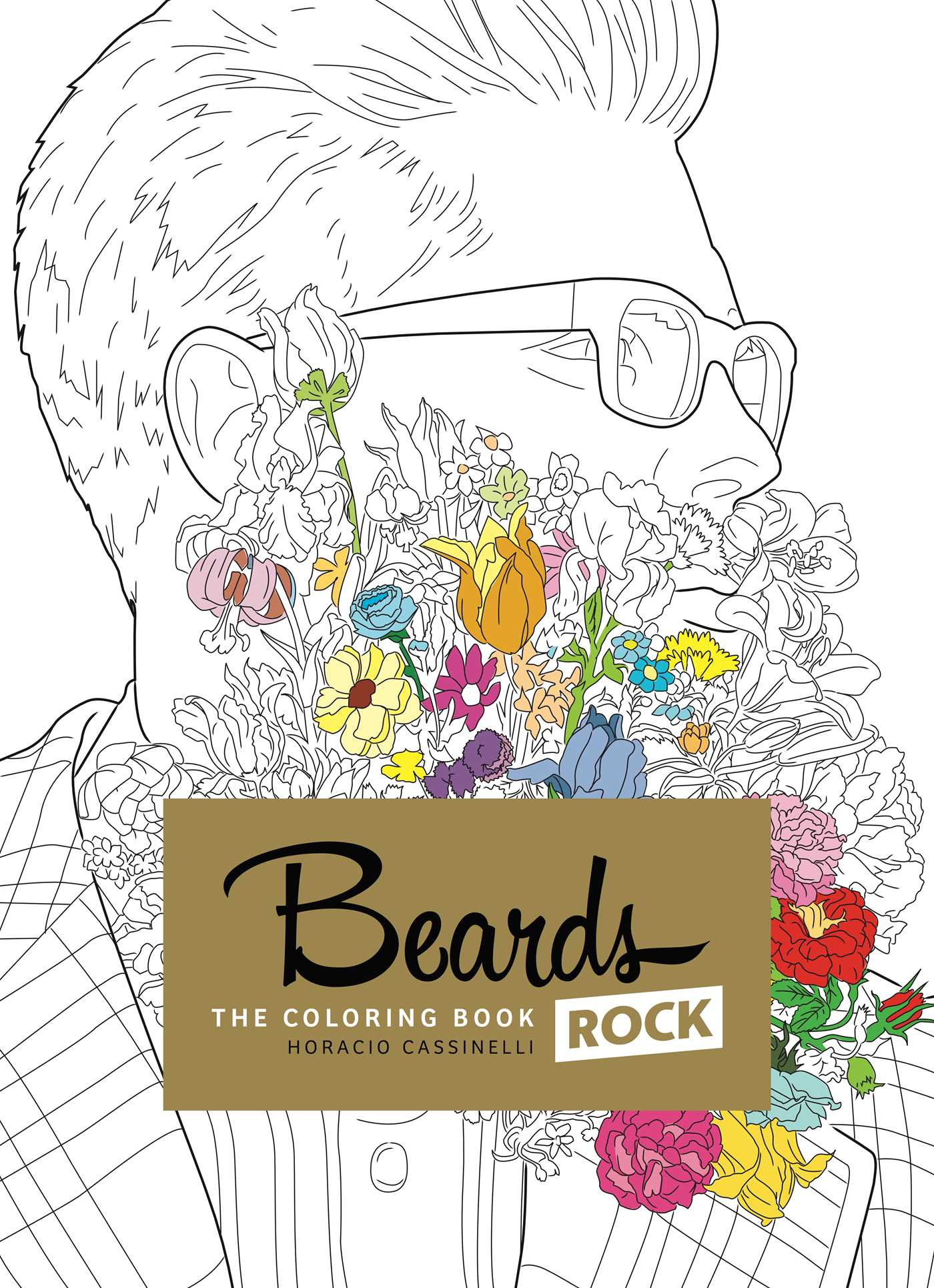 Beards rock coloring book