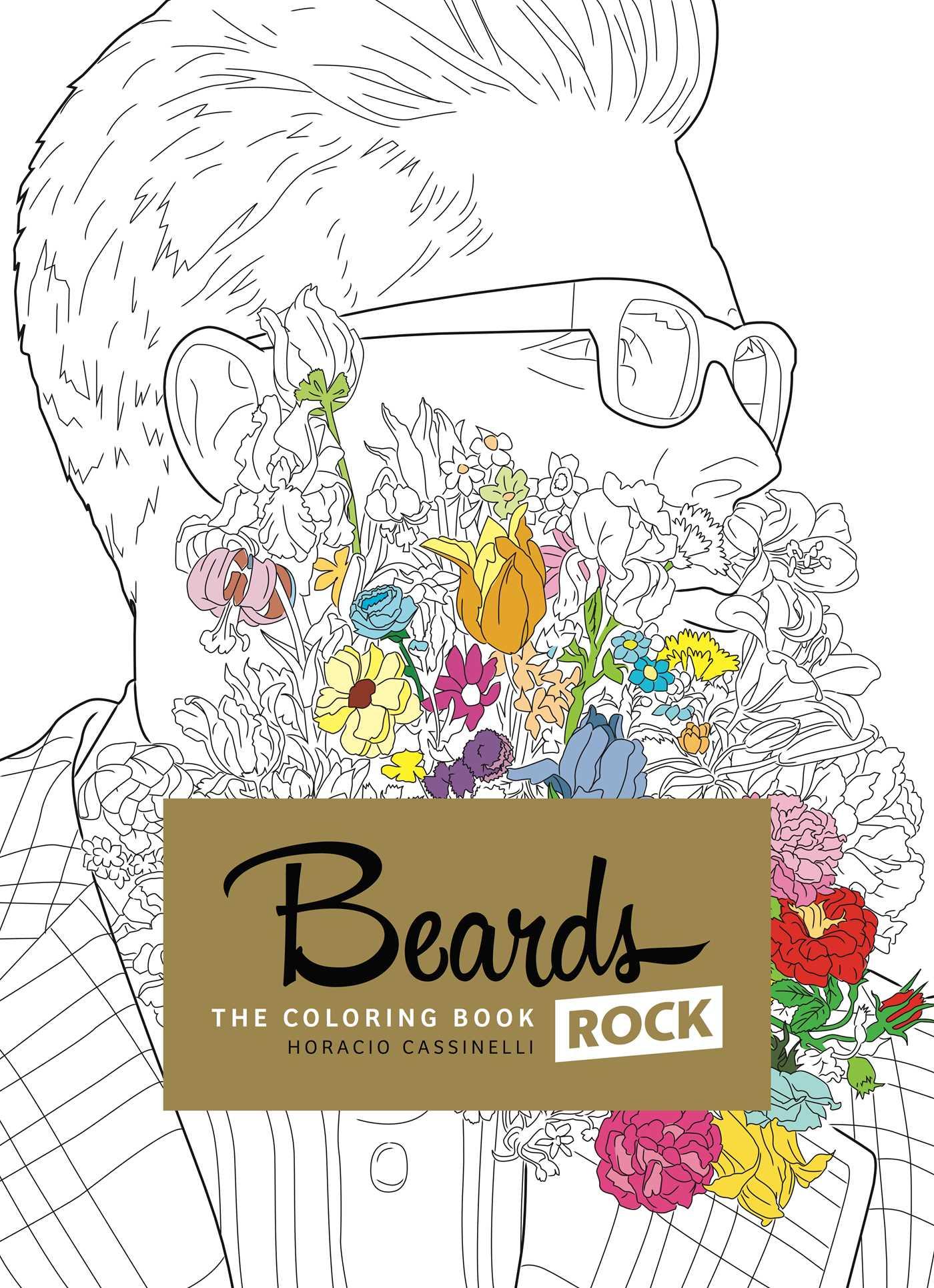 Beards rock coloring book