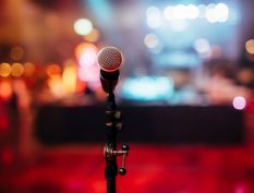 Mic on a stage