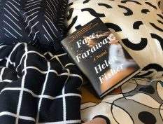 Faye Faraway book resting on pillows
