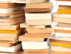 Piles of paperback books