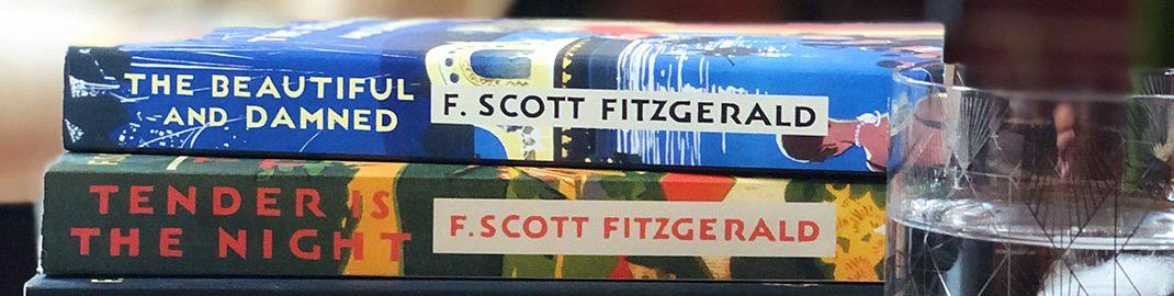 Stack of books by F. Scott Fitzgerald