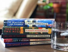 Stack of books by F. Scott Fitzgerald