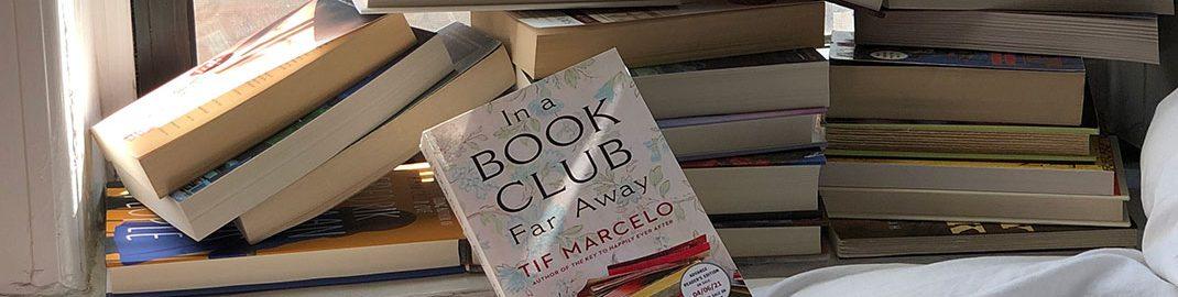 In a Book Club Far Away Book beside a window