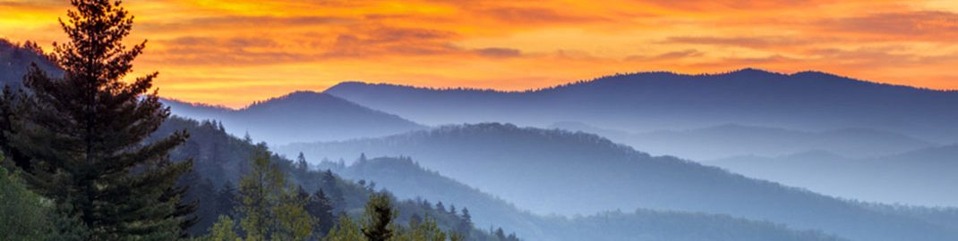 Landscape photo of the Great Smoky Mountains National Park