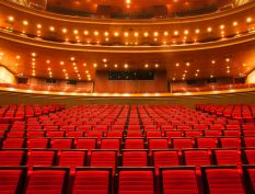 Interior of a theater